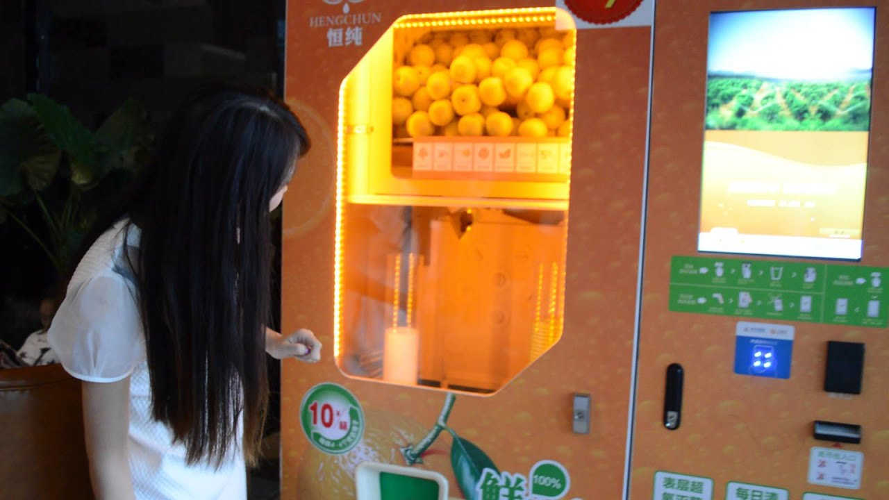 Orange Juice Vending Machine Youtube