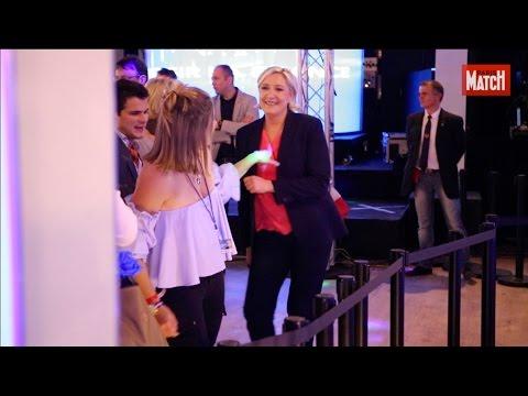 La défaite n'empêche pas Marine Le Pen de danser