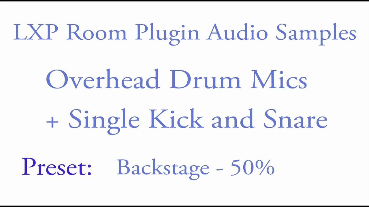 Lexicon Pro - Legendary Reverb and Effects   LXP Room Plugin Drums