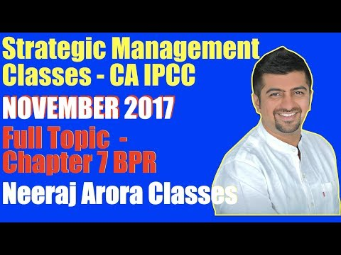 Strategic Management Classes CA IPCC | Full Video of Chapter 7 Topic BPR