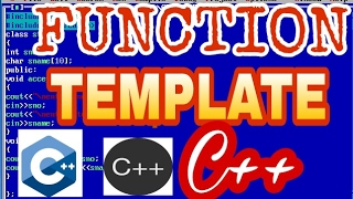 function template in c++ with example || c++  tutorials