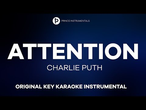 Charlie Puth - Attention [ Original Key Instrumental Karaoke ]