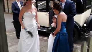 Arrival of the bride. St Thomas of Canterbury, Worting, Basingstoke.