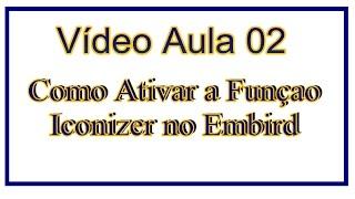 Video Aula 02 - Como Ativar a Função Iconizer no Embird