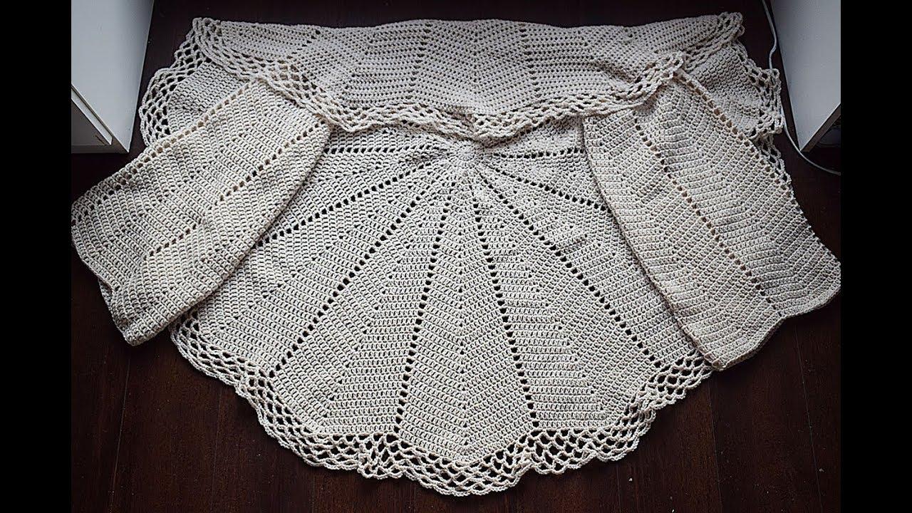 9e0e0350c Como hacer una chaqueta a crochet en redondo muy fácil y rápida ...