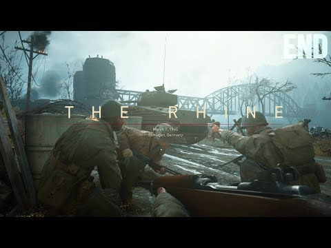 """Call of Duty: WWII Campaign Mission [END] """"The Rhine"""" (March 7, 1945)"""