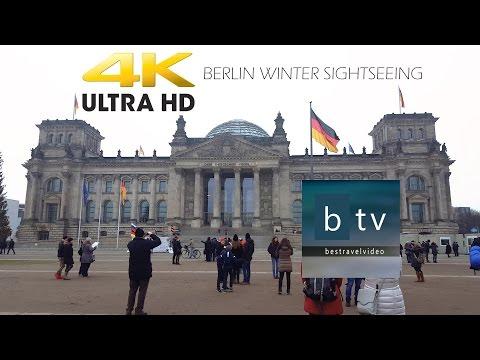 Berlin Winter Sightseeing in 4K