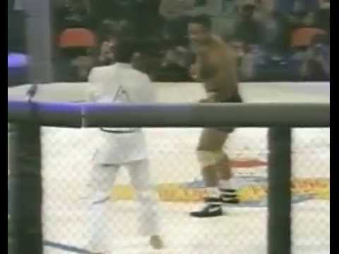 Royce Gracie gets a tapout in UFC 1 via claustrophobia. It's amazing how far this sport has evolved.