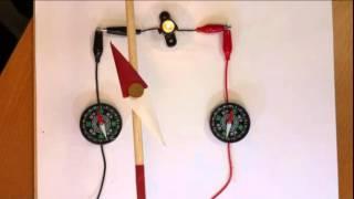 3.導線と方位磁針 4.電磁石.
