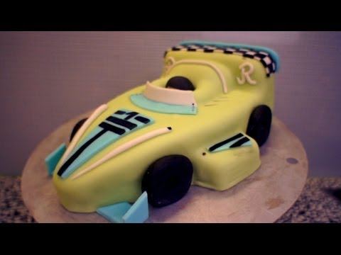 Formel-1 Auto Torte - Kindergeburtstagskuchen - Autokuchen ...