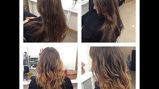 Окрашивание Омбре на русых волосах. Стрижка для длинных волос. Накрутка на утюжок.(, 2015-10-26T18:41:54.000Z)