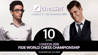 10. Partie - FIDE Schachweltmeisterschaft 2018 - Caruana-Carlsen