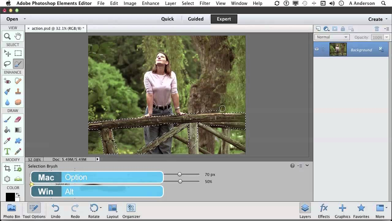 Photoshop elements 11 tutorial painting a selection with the photoshop elements 11 tutorial painting a selection with the selection brush tool baditri Choice Image
