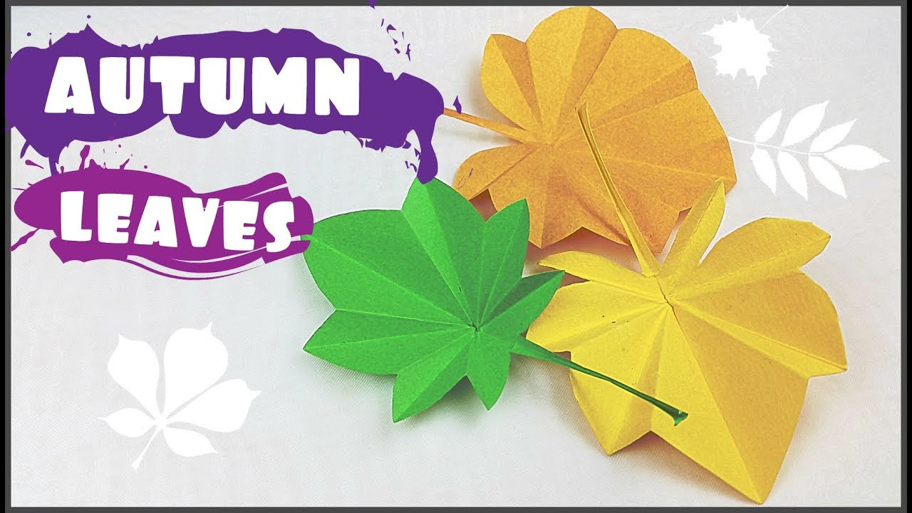 Origami Maple Leaf Easy Instructions - for Thanksgiving Day ... | 720x1280