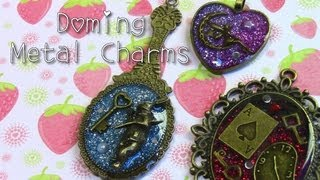 Metal Charm Doming Tutorial☆レジンアクセサリー
