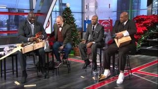 Inside The NBA Crew Exchanges Christmas Gifts | 2015 Edition