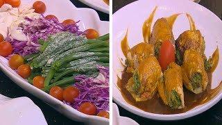 كباب دجاج بجوز الهند - رول الدجاج المحشي خضار - سلطة فاصوليا خضراء بالمشروم | الشيف حلقة كاملة