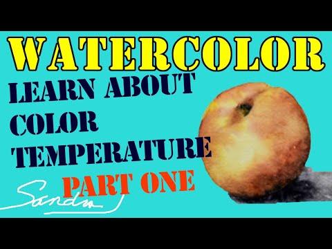 Color Temperature - Part 1- Watercolor Painting Techniques - Paint a Peach with Sandra J