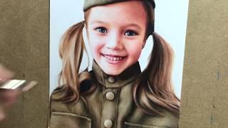 Портрет Анны Павага цветными карандашами. Colored pencil portrait, Time-lapse video