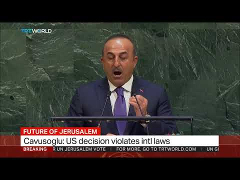 Cavusoglu says Turkey won't leave Palestinians alone