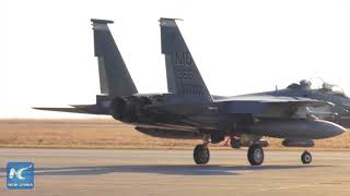 A U.S. military F15 fighter jet crashed in waters off Japan's south...