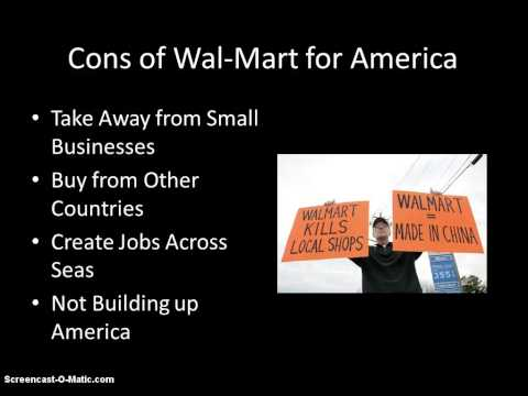 why is walmart bad for america essay Credit: walmart image via shutterstock it's more bad news for walmart after a new york times story alleged that walmart bribed officials in mexico to allow the.