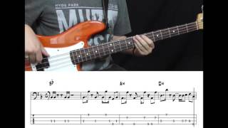 Flo Rida - I Don't Like It I Love It (Bass cover with tabs in video)