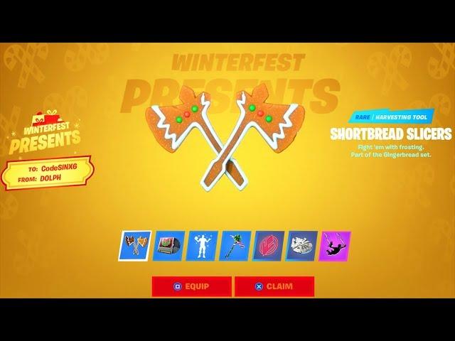 Alle PRÄSENTE geöffnet ..! (* KOSTENLOS * Emote, SITH, Pickaxe & More) Fortnite Battle Royale + video