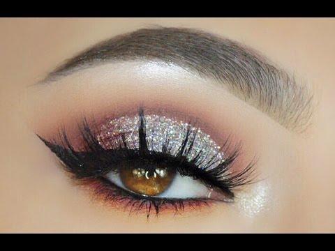 Elegant Silver Glitter Eye Look