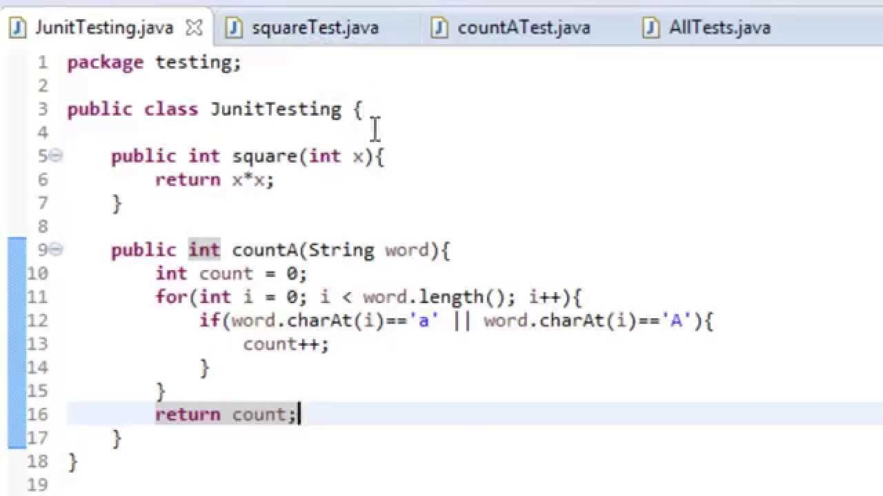 Writing junit tests in netbeans ide.