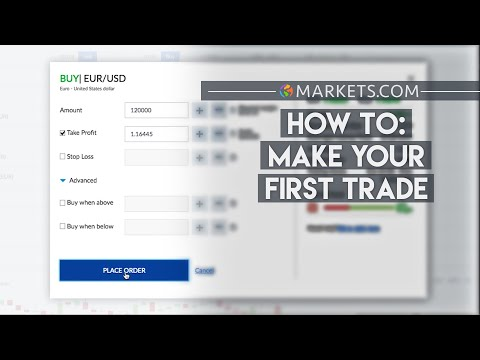 How To Make Your First Trade