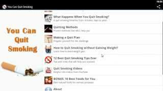 "Video presentation of ""You Can Quit Smoking"" mobile app for Android devices"