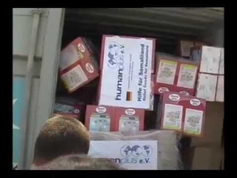 German Muslim charity Aid for Somaliland & Somalia at Berbera port, Somaliland