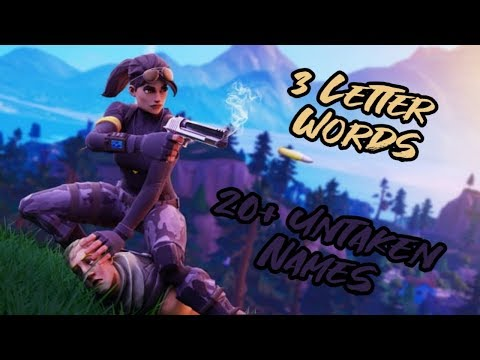 20+ Sweaty/Cool Sounding 3 Letter Fortnite Or Channel Names 2019 ( Not Taken )