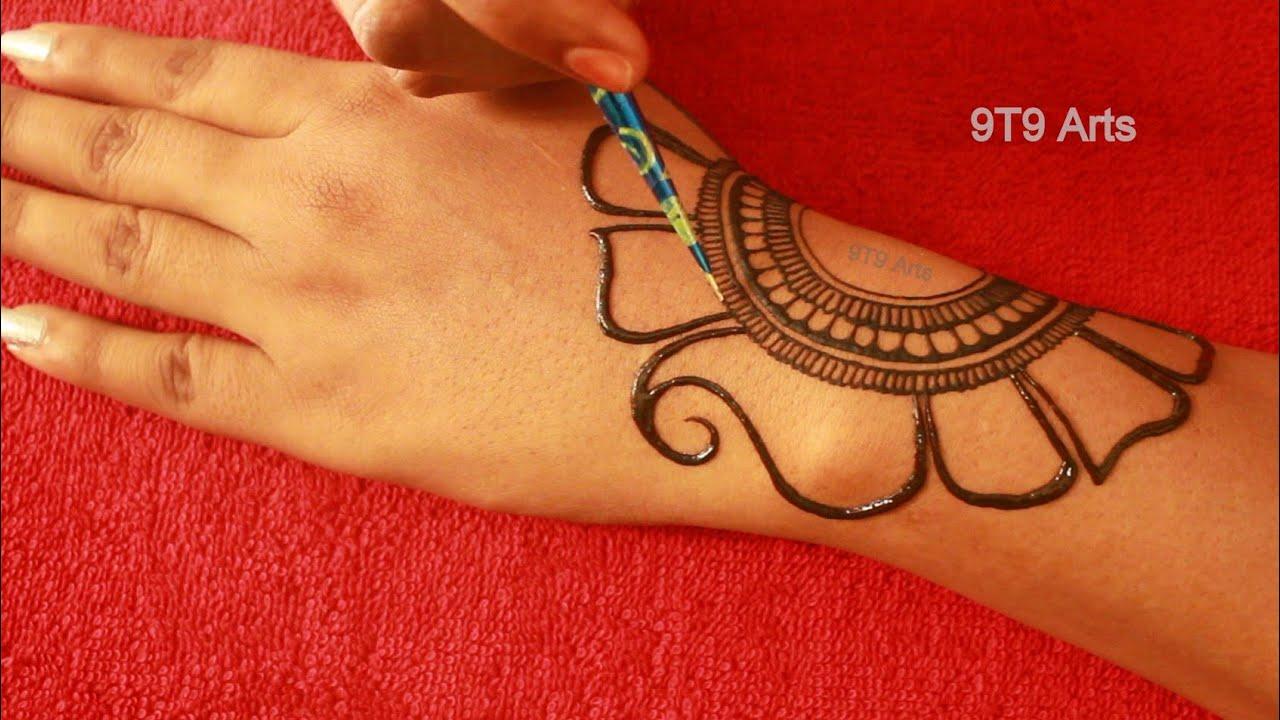 Wedding 2020 & Karva Chauth Designer Mehndi Design||Easy Mehndi design||Simple Floral Henna for Hand