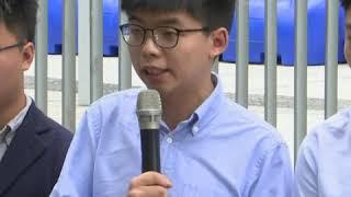 黄之锋区议会参选资格被否 斥香港选举制度不公
