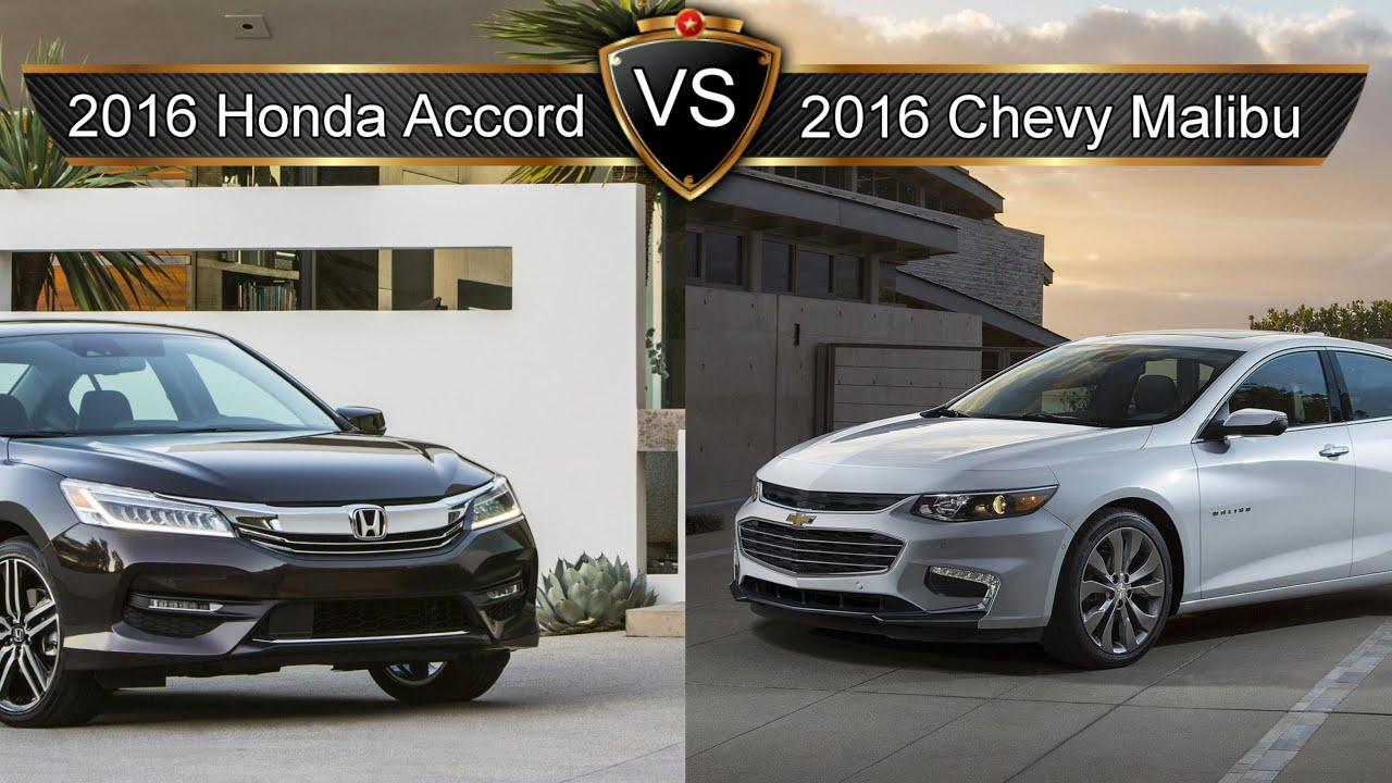 2016 honda accord vs chevy malibu by the numbers youtube for Chevy malibu vs honda accord