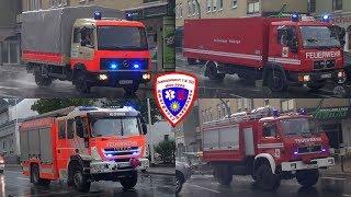 🚨 GW-Logistik + GW-G2 + HLF 20 + ELW + RW 1 mit mobile Vorwarntafel Feuerwehr Schleiz