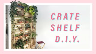 Bedroom Plant Tour + Wooden Crate Shelf