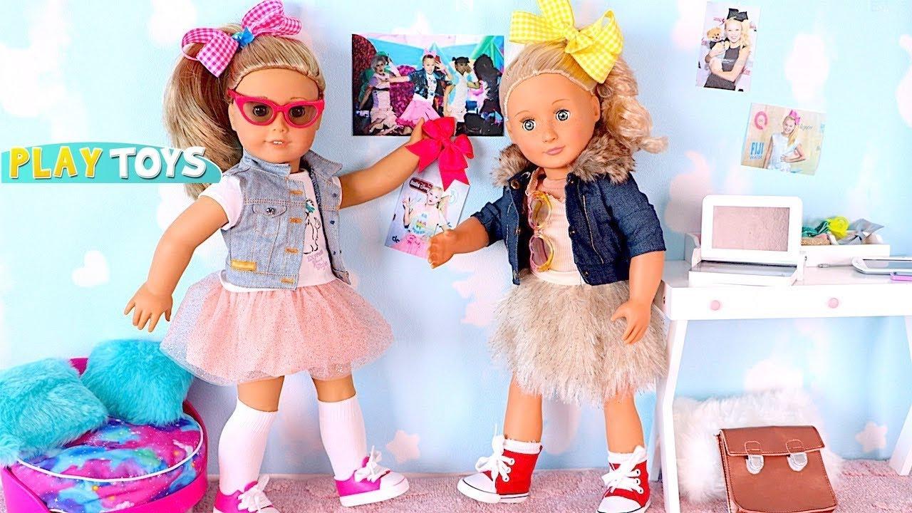 American Girl Doll Dress Up W Bow Hairstyle Like Jojo