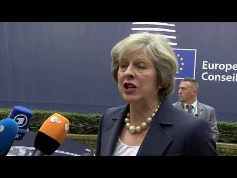 European Council 20-21/10/16, arrival and declaration of  Theresa MAY, UK Prime Minister