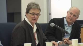 Senator Loni Hancock speaks about the California Fair Elections Act