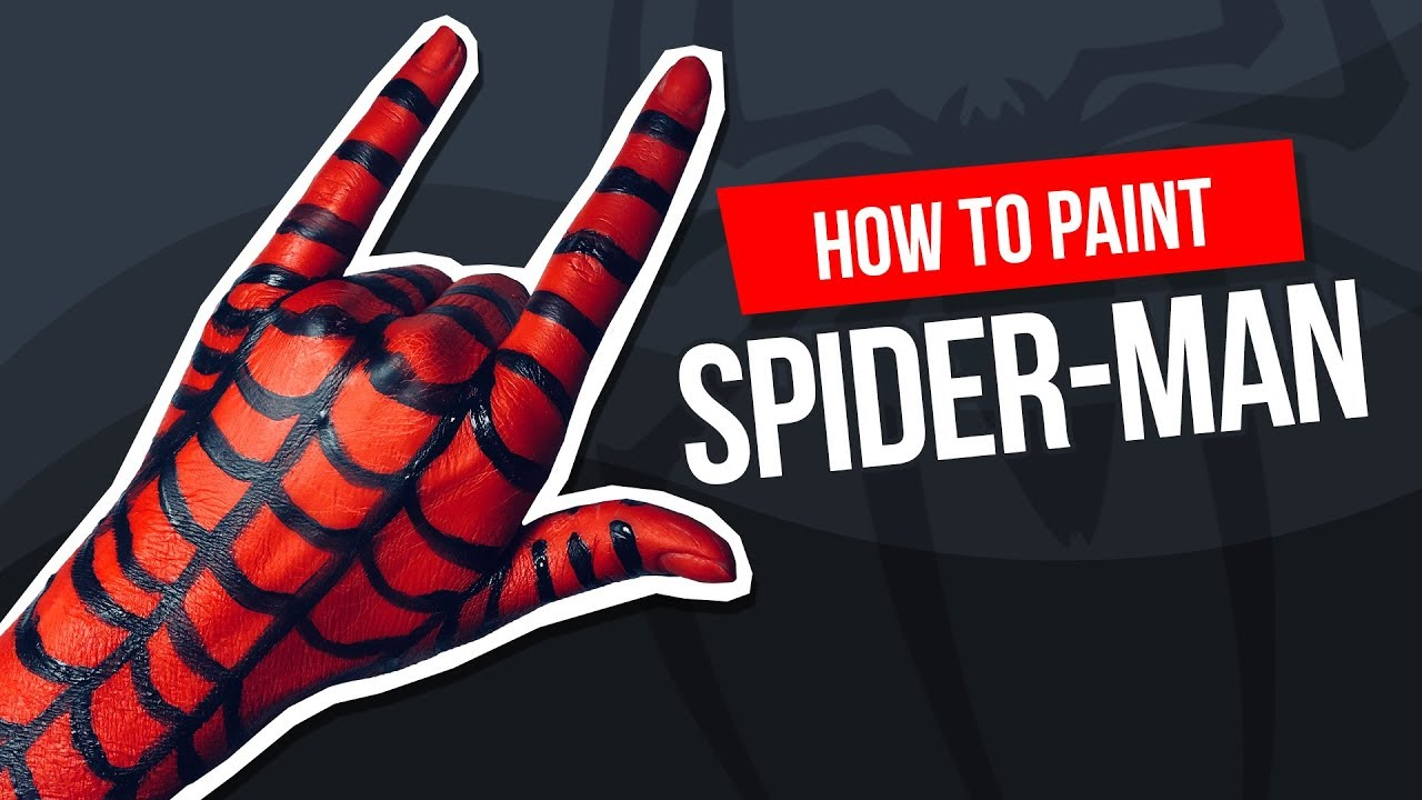 Tutorial: How to paint Spider-Man on your hand 🕷 Jak namalować Spider-Man na ręce 💣