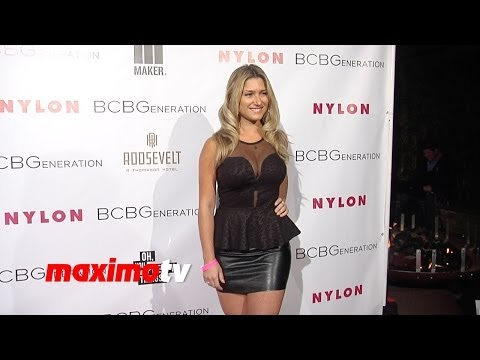Elise Mosca NYLON & BCBGeneration Young Hollywood Party Red Carpet