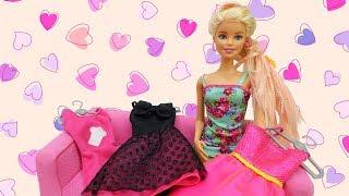 Одевалки #Барби. Модный ВЕСЕННИЙ образ для Барби 💃 Идем гулять! Игры Барби для девочек #Мамыидочки