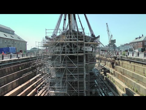 'OLD IRONSIDES' IN DRY DOCK 1 - U.S.S. CONSTITUTION AT CHARLESTOWN NAVY YARD, BOSTON