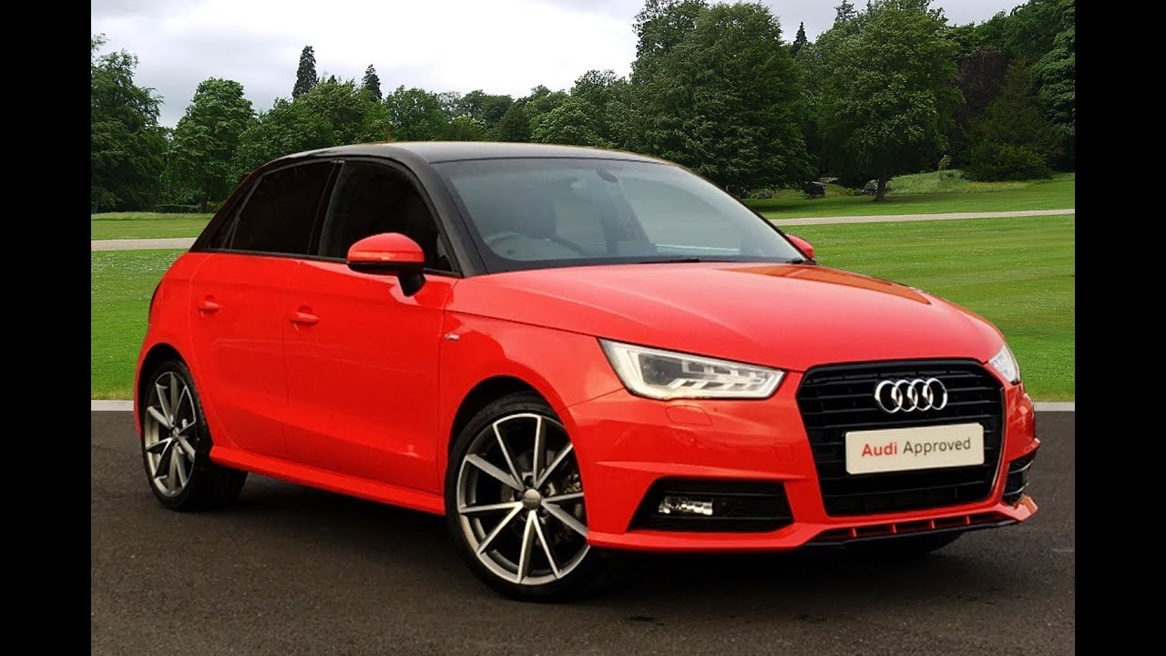 gj17cke audi a1 sportback tfsi s line black edition red 2017 bradford audi youtube. Black Bedroom Furniture Sets. Home Design Ideas