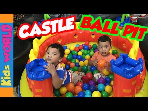 Intex Castle Play Center Ball Pit Play Time | Charlie's Kids World