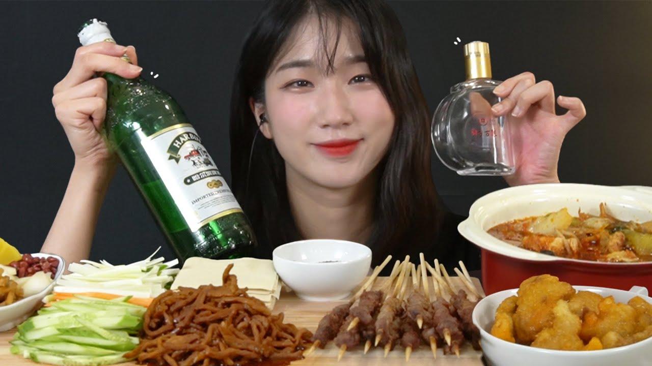 취해버렸어요 ㅎㅎ   제히와 알코올 ASMR(feat.마라탕, 꿔바로우, 양꼬치, 경장육슬)