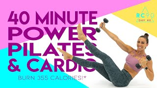 40 Minute Power Pilates and Cardio Workout 🔥Burn 355 Calories!* 🔥Sydney Cummings